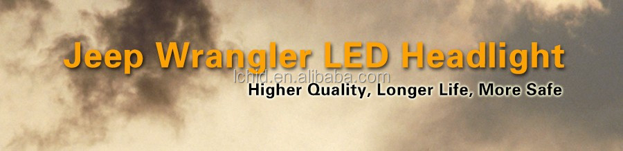 "Top sale round 7"" 7inch 4500 6000LM 45 or 60W LED Headlight Assembly with Angel Eye & DRL & Turn Lights for Jeep Wrangler"
