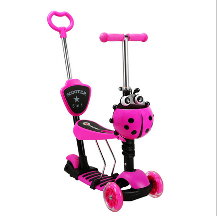 2016 Alibaba hot sale height adjustable kids foot scooter/three wheel scooter for kids/5 in1 kids kick scooter