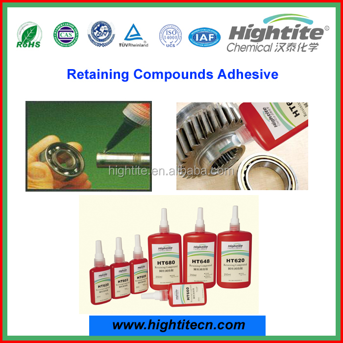 Yantai Hightite Retaining Compounds Adhesives high quality Cylindrical bonding sealant adhesive 603/609/620/680 for industry