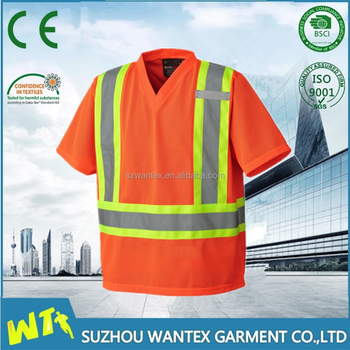 high visibility reflective tape tshirt