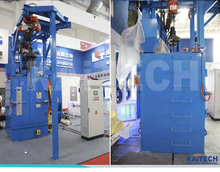 China Q376 hook type shot blast machine for castings surface cleaning