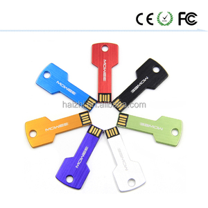 Free logo usb 2.0 / 3.0 key shaped usb flash drive