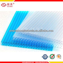 polycarbonate sheet cheap pc hollow sheet for greenhouse skylights sheet greenhouse roofing material