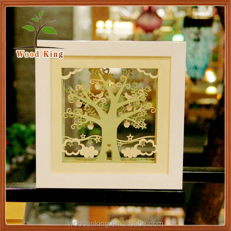 New Ideas 3D Paper Carving Photo Frame Creative Gifts