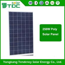 2017 New Machine Grade Low Iron 200w high efficiency poly solar panel s