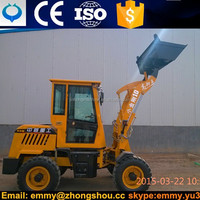 2015 China Front End Fork Auto mini wheel loader for sale grass fork device