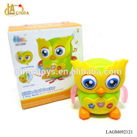 Little owl toys with eyes bobbing and swing wing ,light music,2017 new item for children