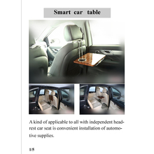 Most popular smart folding car table with cup holder