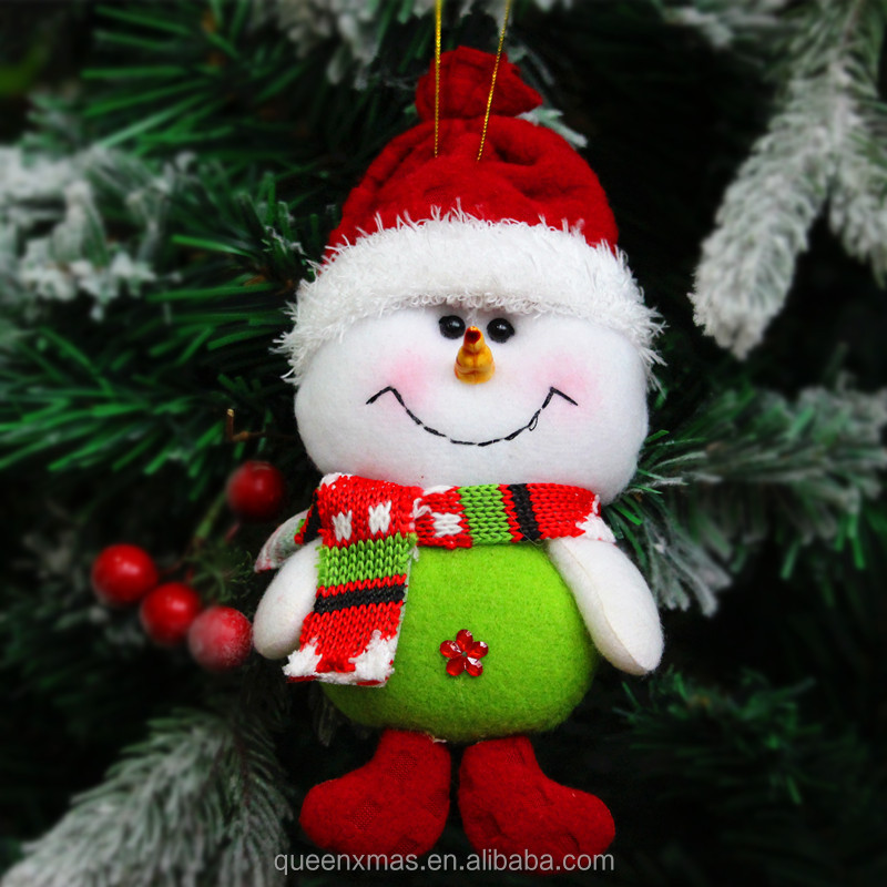 2017 Colorful bulk handmade fabric wholesale christmas ornaments