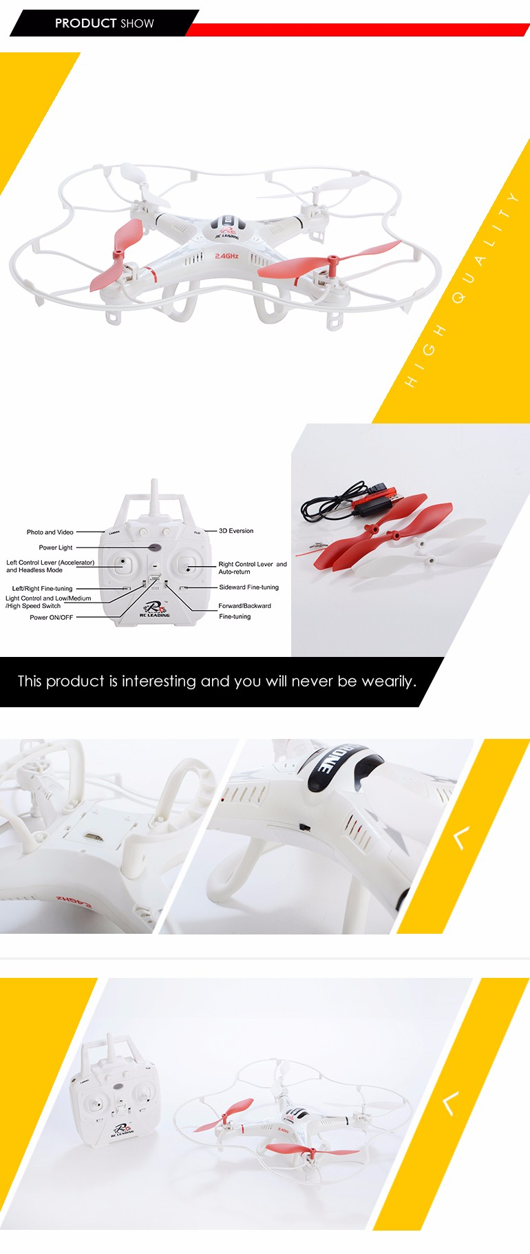 hot sale 360 degree 6 channel 4 axis wifi drone 2.4g rc quadcopter cooler fly for oem