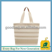 2016 New arrival customized natural canvas shopping bags in Promotion