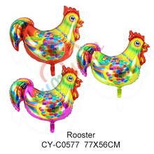 Inflatable foil mylar chicken balloon helium cock balloon foil rooster balloon