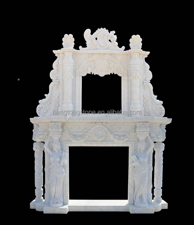 2 Tier Decorative Artificial Marble Fireplace Surround