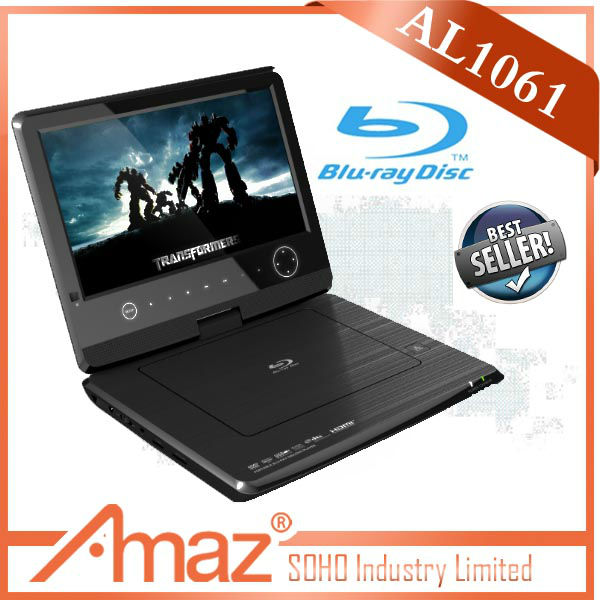 Newest designed full function portable dvd player hdmi input