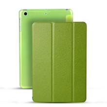 Stand Ultrathin Case Hard PC Back Cover Smart PU Leather Case For iPad mini1/2/3