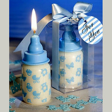 Wedding Return Gifts Blue Bottle Baby Shower Candle