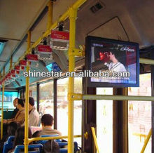 "17"" bus wireless 3G android advertising media LCD player with roof/back mount"