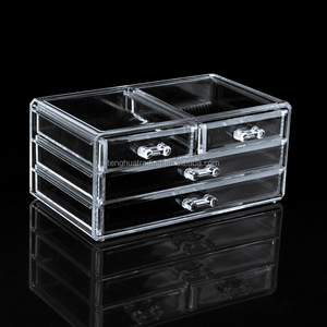 6 drawer acrylic makeup organizer,clear jewelry display box