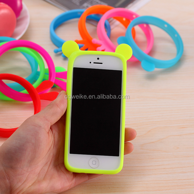 Universal Protective Silicone smart phone Bracelet Ring Case Bumper For Any mobile phone