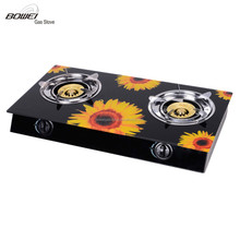 High Quality Glass Biogas Stove Double Burner