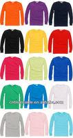DIY Long Sleeve 100 % Cotton Shirts Custom Printing long sleeve t shirt design