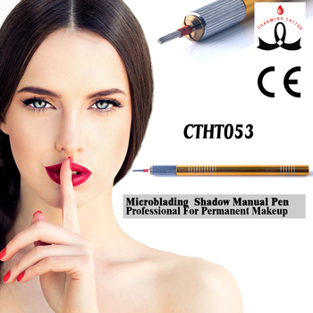 Permanent Makeup Microblading Use #21 Round Shading blade Eyebrow Tattoo Shadow Manual Pen