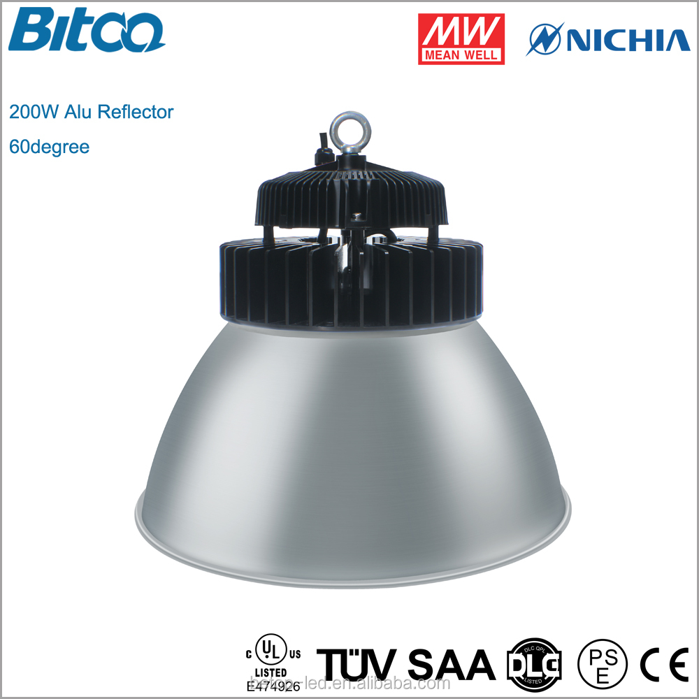 Industrial light UL 277V Led High Bay 200W with DLC 140lm/w ufo led high bay light.
