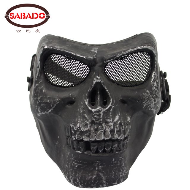Skeleton Face Protector Full Face Military Tactical Skull Airsoft Mask