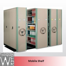 Electric metal library compact mobile shelving