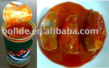 canned mackerel fish in tomato paste 425g,155g