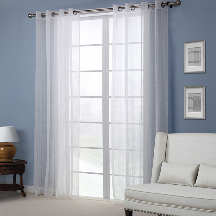 Window Treatment White Voile Sheer Curtain Panel pumping with grommet