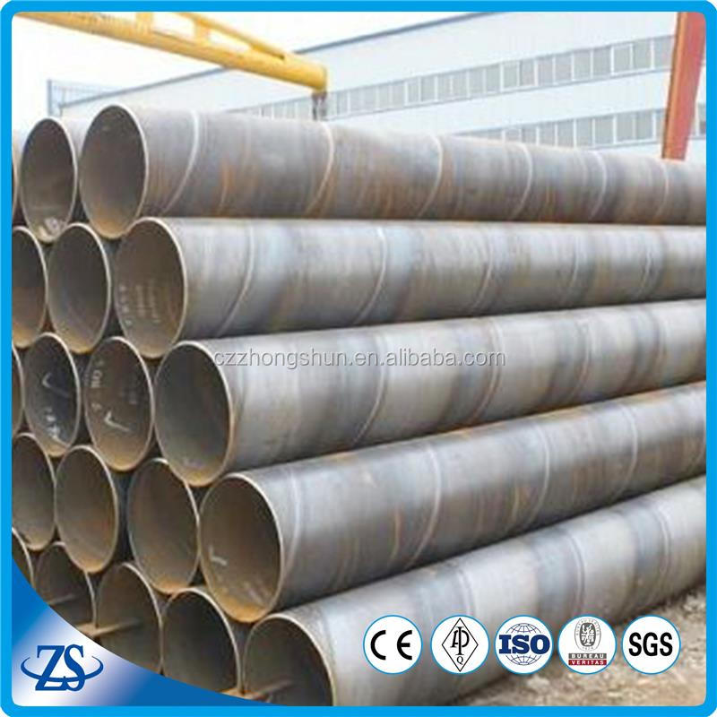 welded carbon spiral steel pipes for liquid deli