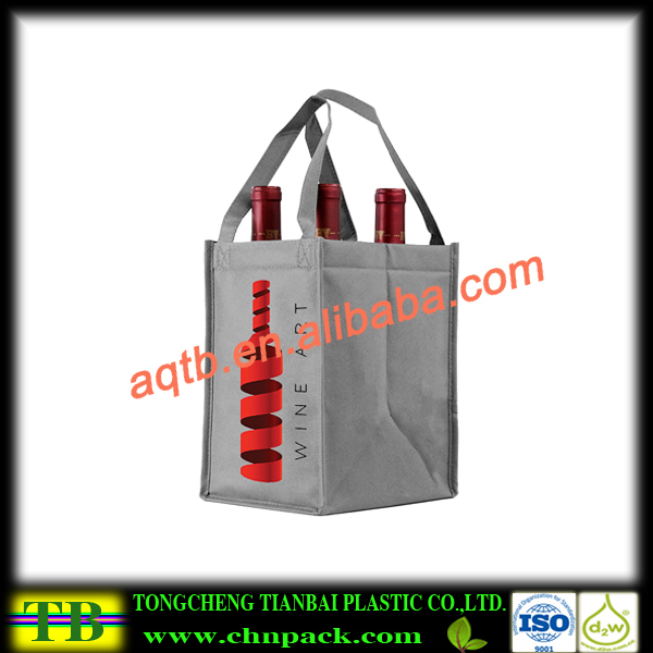 Nonwoven packing bag for red wine bottle