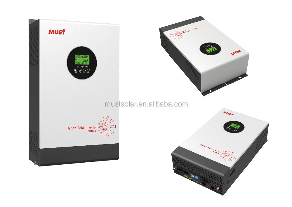 Must PV1800 HM DC 24v 3KVA 2400W solar inverter with MPPT solar charger solar inverter system