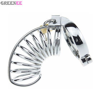 Multi-Ring Stainless Steel Chastity Device Cock Cage With 5 Size Penis Ring Chastity Belt Dick Cage Lock Male Toys
