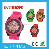 evertop new fashion silicon quartz watch ET1485