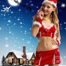 New Style Red Winter Mature Women Sexy Christmas Costume