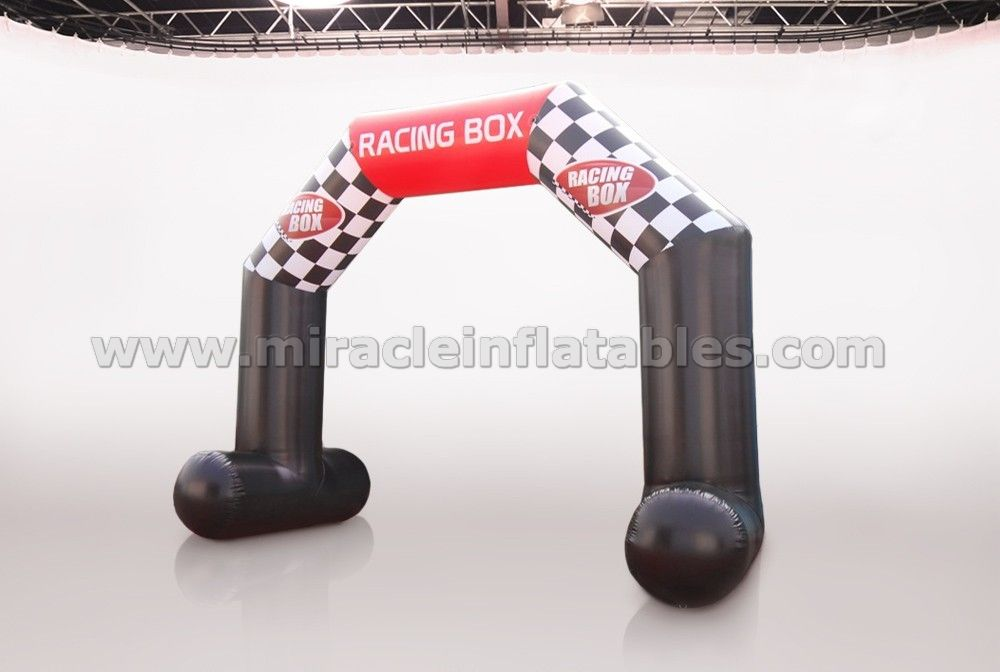 Low price inflatable archway,inflatable sport event arch for racing box C2008