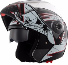 DOT modular double visor motorcycle flip up high-security helmet