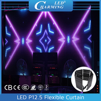 led flectional/flexible curtainled advertising digital display board led transparent mesh curtain for stage backdrop/club wall l