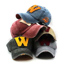 custom worn-out handmade vintage distressed woven patch 100% cotton baseball caps men