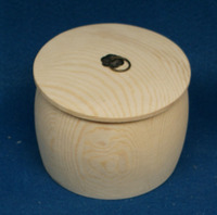 round shape wooden candy box+laser logo+free sample