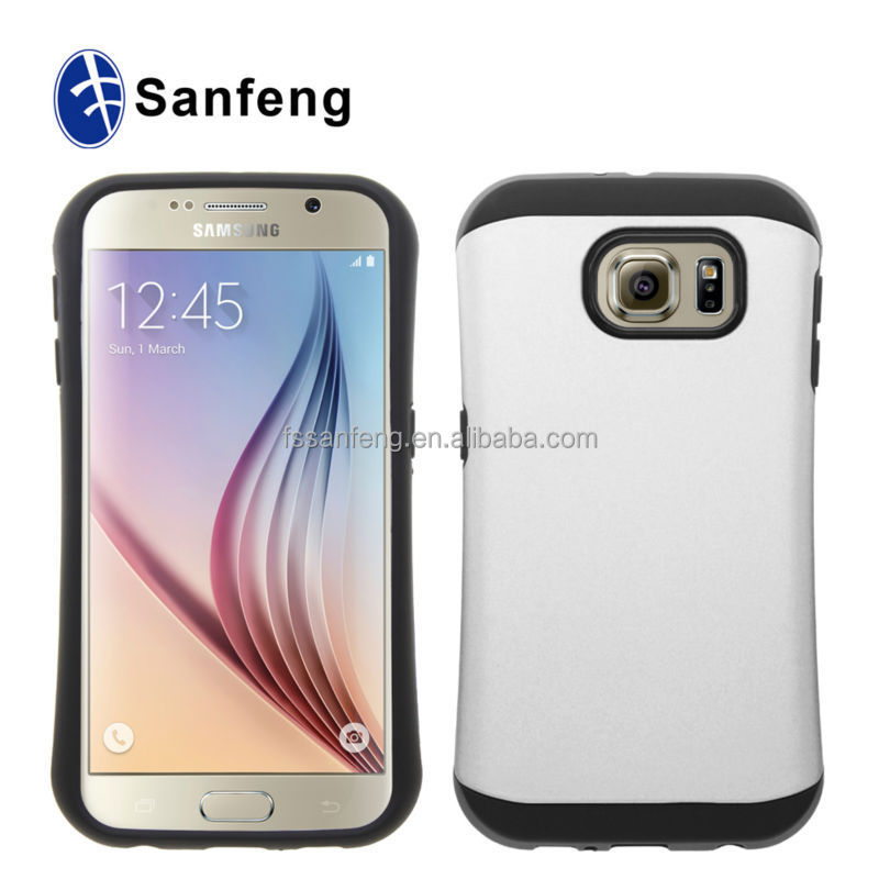 Fashional High Quality Hard PC TPU Mobile Phone Cases For Samsung Galaxy S6 SM-G9200,SM-G920P, SM-G920A