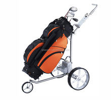 Aluminum Material Frame 3 Wheels Golf Push Pull Cart golf trolley