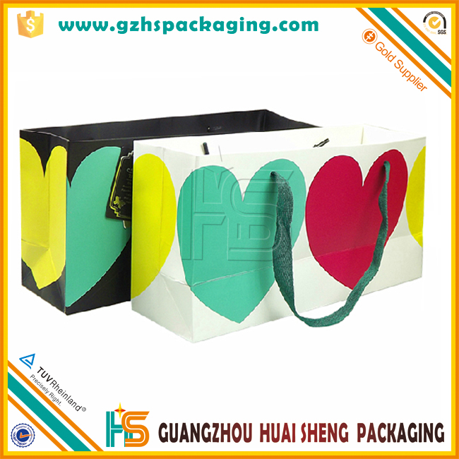 Fancy decoration make handmade art customized paper bag with your logo