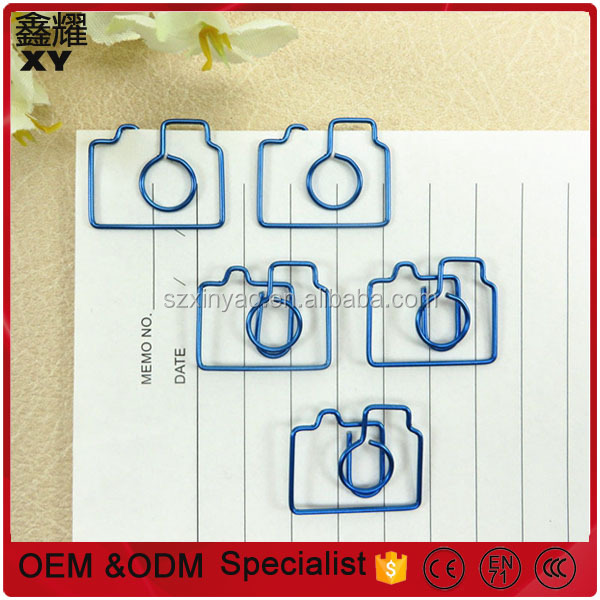 Promotional gifts custom fancy metal unique camera paper clip