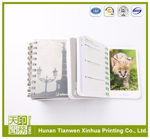 Promotional advertising customized spiral notebook with colored paper