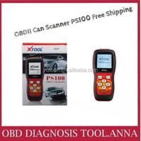 2015 100% original XTOOL PS 100 auto code reader PS100 CAN OBDII/EOBDII Memo Scanner(live data) free update from danny