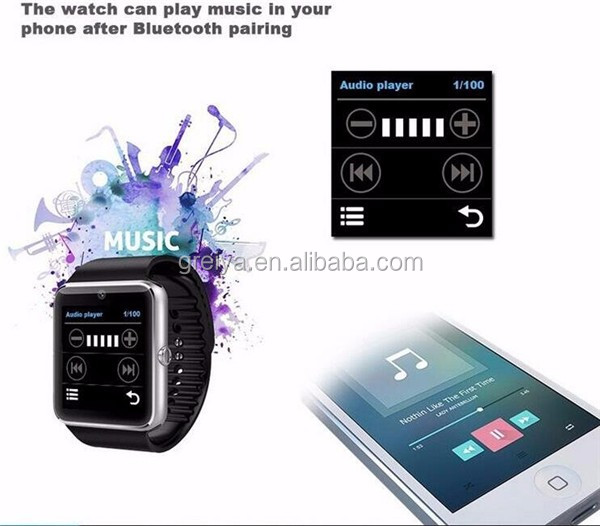 Cheap smart watch with camera and sim card slot Android 4.4 Smart Watch gt08