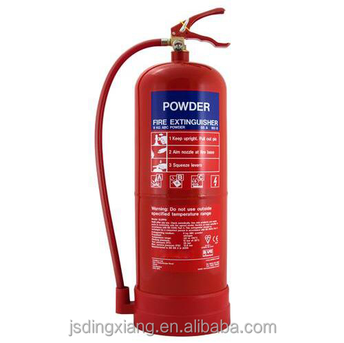 9kg BSI EN3-7 certificate dry power fire extinguisher